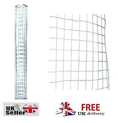 Galvanised Chicken Rabbit Garden Fence Mesh Net Border Wire Netting 1.5M Or 5M