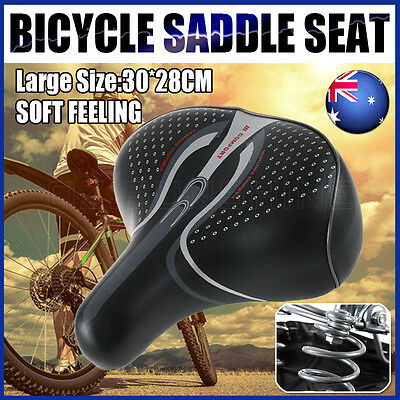 Large Bum Bike Bicycle Gel Unisex Saddle Seat Ladies Cycling Sprung Wide Deluxe