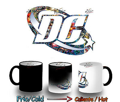 TAZA MAGICA DC COMICS SUPERHEROES MAGIC MUG tasse es