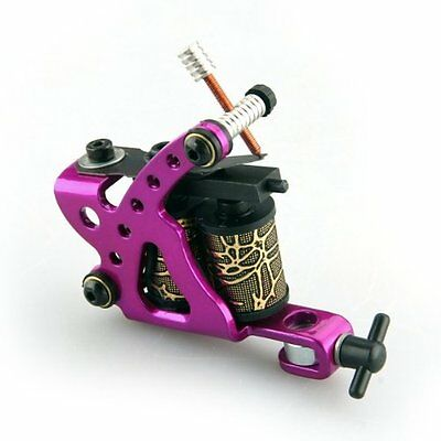Sunny Pro Red Tattoo Machine Gun for Shader Liner 8 Wrap Coils