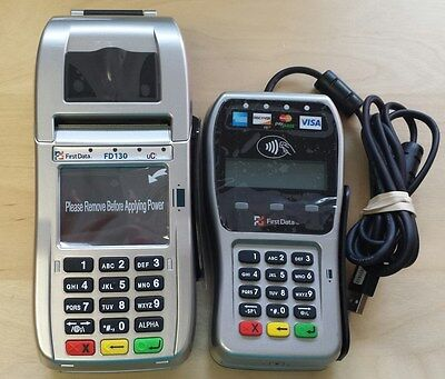 New First Data FD130 Terminal with Smart Card Reader/EMV and FD35 Pin Pad