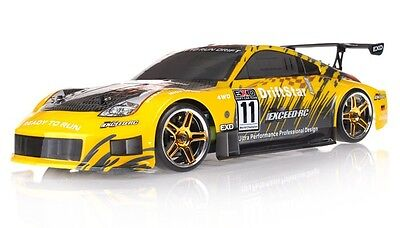 1/10 2.4Ghz Exceed RC Electric DriftStar RTR Drift Car Brushed CARBON YELLOW New