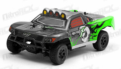 MicroX Racing 1/24 Scale Micro Short Course RC Truck Ready to Run 2.4Ghz GREEN