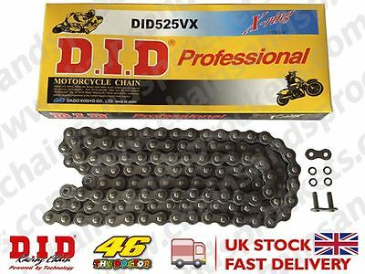 DID Heavy Duty X-Ring Motorcycle Chain 525VX Pitch 124 Links w/ Rivet Link