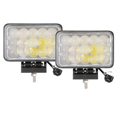 2x 4x6 45w LED Work Light Headlights Sealed Beam Hi/ Lo Lamp Offroad Driving 5""