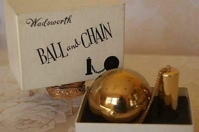 """Rare Collector's """" Ball and Chain """"Compact w/ ORG. BOX !! by Wadsworth"""