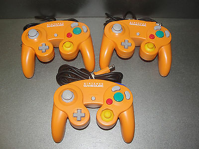 1 Official Nintendo GameCube Controller Spice Orange - OEM - Detail Cleaned