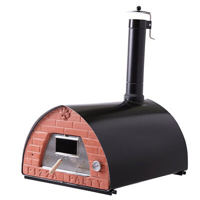 Large wood fired pizza oven Pizzone + Door with glass: The outdoor oven 4 pizzas
