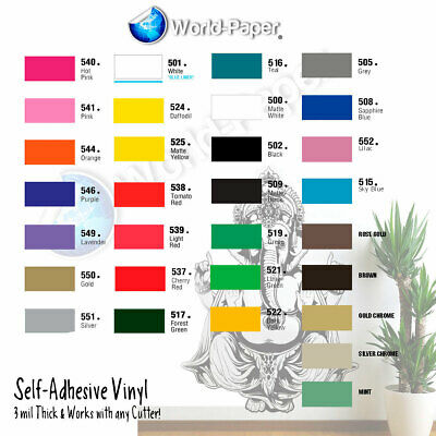 Adhesive Vinyl (Craft hobby/sign maker/cutter), 15 Rolls 5 Feet x 12""