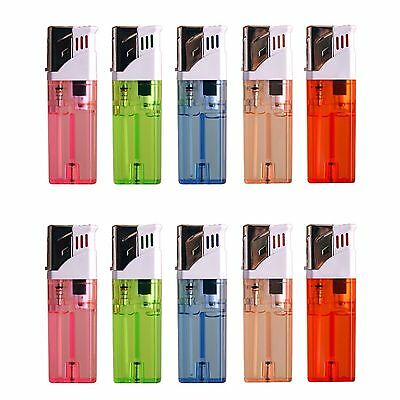 10 PACK Butane Gas Cigar Cigarette Lighter Jet Flame Torch Refillable Windproof
