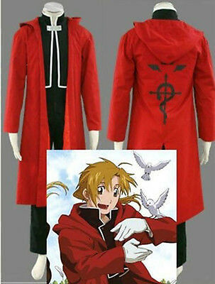 new Anime Fullmetal Alchemist Edward Elric's cosplay costume Cloak #1246