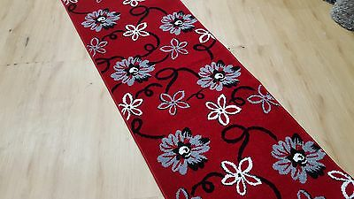 Stylish Red Turkish Made Thick Quality Hall Runner (Assorted Lengths)