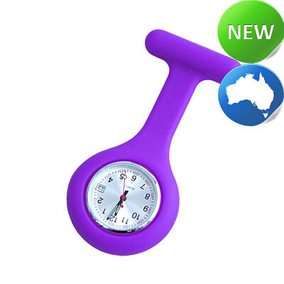 Nurse Silicone FOB Watch with Date Function - Purple