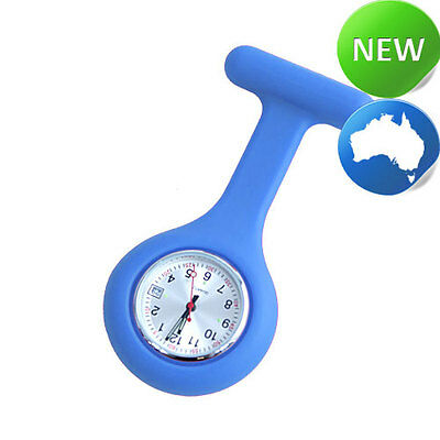 Nurse Silicone FOB Watch with Date Function - Light Blue
