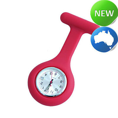 Nurse Silicone FOB Watch with Date Function - Rose Pink