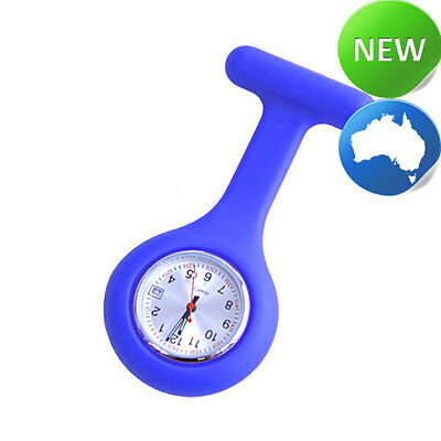 Nurse Silicone FOB Watch with Date Function - Royal Blue