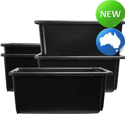x2 Stackable & Nestable Heavy Duty 52L Storage Tub/Crate with Lids
