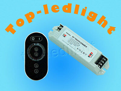 Wireless Touch LED Dimmer Switch with Touch Remote Control Panel DC12V~24V 12A