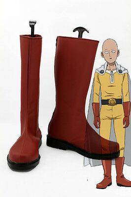 Anime One Punch Man Saitama Master Cosplay Costume Boots Shoes