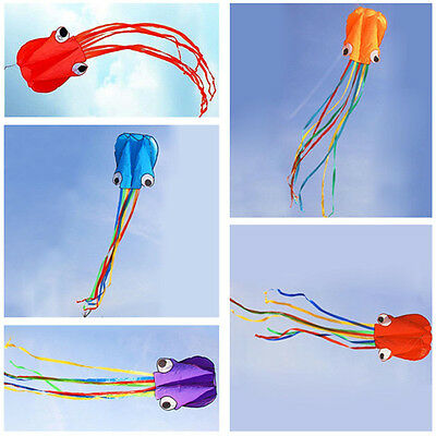 Unqiue 4M Single Line Stunt Octopus Power Sport Flying Kite Outdoor Activity hy