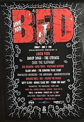 Live 105's The One And Only BFD June 5th 2011 Event Poster Featuring LINKIN PARK