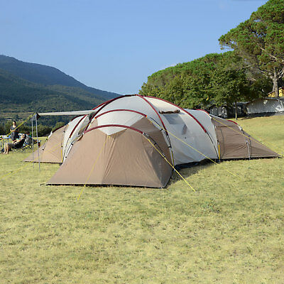 SKANDIKA TURIN 12 PERS. TENTE CAMPING FAMILLE 3 CABINES 840x720CM 3000MM NEUVE