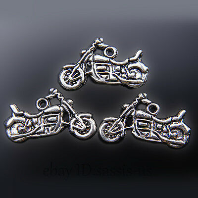 20 pieces 24mm Motorcycle Pendant Charms Tibetan Silver DIY Jewelry A7444