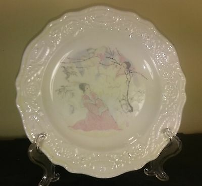 Steubenville - People Scene - Salad/Dessert Plate - Two Women - Pink and White