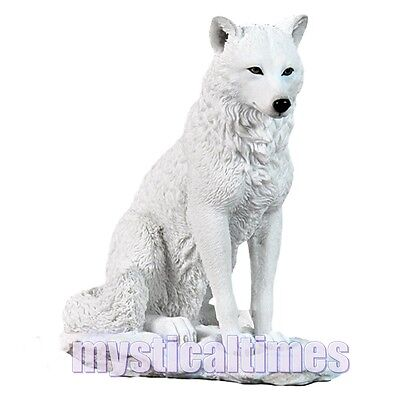 NEW White Wolf figurine statue Ghost wolf a nemesis now figure G0751