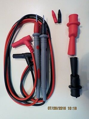 Replacement Test Leads & Alligator Clips- Fits Fluke & Other Multi/Clamp Meters