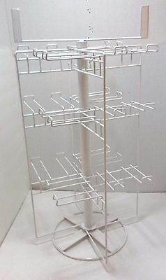 "Countertop Store Display Rack Revolving Rotating Spinning NEW 24"" Hooks Carousel"