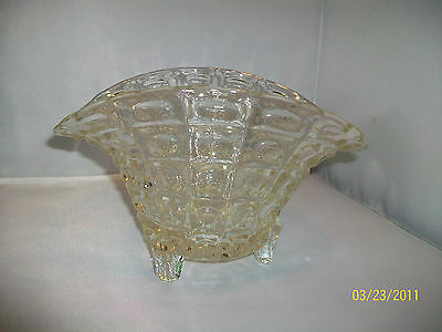 Chrystal Glass Three Footed Bowl