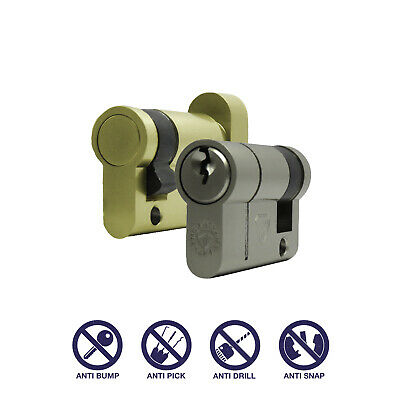 Half Thumbturn / Half Cylinder Anti Snap Euro Cylinder Lock High Security Single