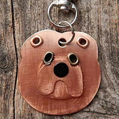 Chow Metal Rivet Tag/Keychain - NEW - FREE SHIPPING -
