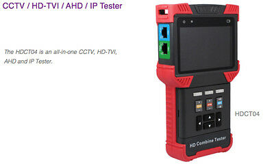 Genie Hdct04 4 In 1 Cctv, Hd-Tvi, Ahd & Ip Tester With 8Gb Poe Port 4.0'' Screen