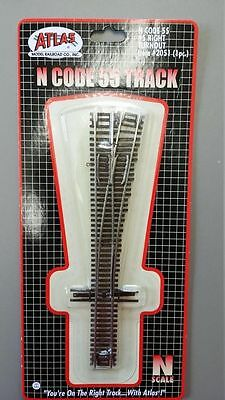 ATLAS (N-Scale) #2051 - Code 55 Track - #5 Right Hand Turnout  - NIB