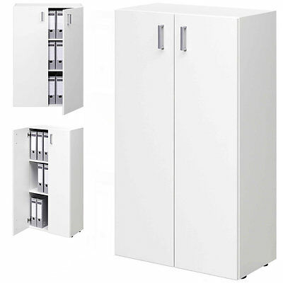 Office Storage Unit White Book Shelves Wooden Cabinet Doors Home Furniture Shelf
