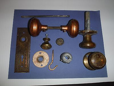 ANTIQUE LOT~HARDWARE~Vintage DOOR KNOBS~VICTORIAN~DECORATIVE~STEAMPUNK JUNK!