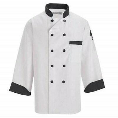REGENT Black Trim Chef Coat/Jacket Size M (42-44)