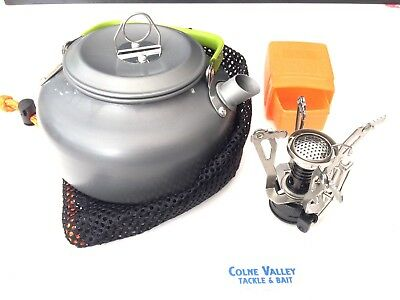 carp fishing kettle & Hi Powered Lite Stove 0-8l Kettle Fold Away Stove