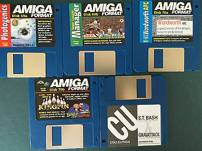 Commodore Amiga software disks various games and utilities #3