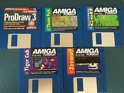 Commodore Amiga software disks various games and utilities #7
