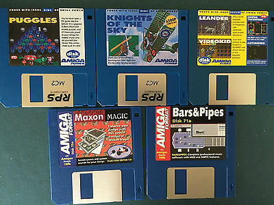 Commodore Amiga software disks various games and utilities #4