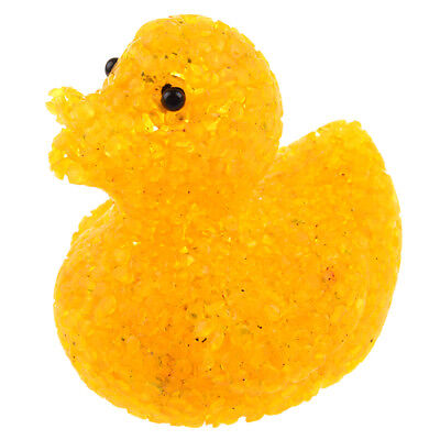 LED Yellow Crystal Duck Flashing Bath Lamp Light Toy for Baby Kids DP