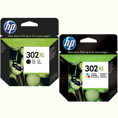 2x ORIGINAL HP 302 XL TINTE PATRONEN OfficeJet 3830 3834 4650 + Lego