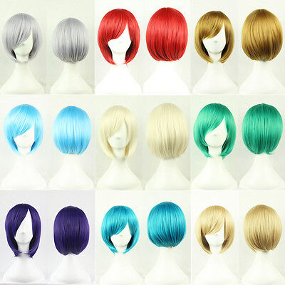 Fashion Women Short Hair Wig Heat Resistant Cosplay Bob Wigs
