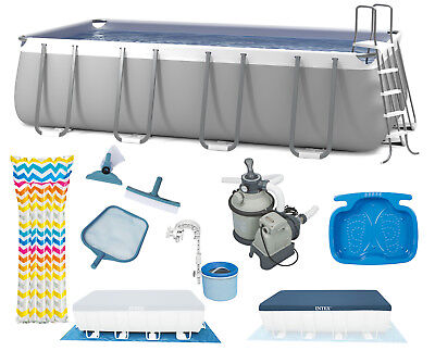 INTEX Ultra Frame Swimming Pool 549x274x132 cm Rechteck Stahlwand 28352
