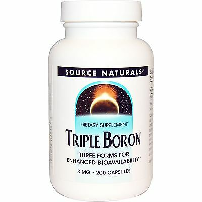 Boron 3mg x 200 capsules - Source Naturals Triple Boron