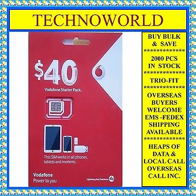 Vodafone $40 Simcard+Infinite Call Text/sms+Free Overseas Call+Bulk Rate Avail