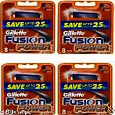 Gillette Fusion Power 4 Packs of 8 Cartridges(32 Razor Blades)RRP$184